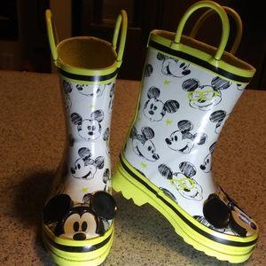 Disney Mickey Mouse Rain Boots Sz. 8